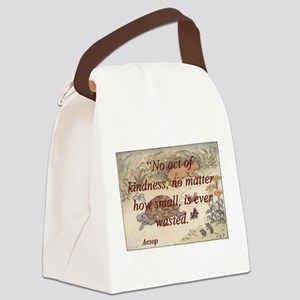 No Act Of Kindness - Aesop Canvas Lunch Bag