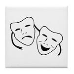 Comedy & Tragedy Mask Tile Coaster