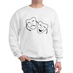 Comedy & Tragedy Mask Sweatshirt