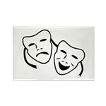Comedy & Tragedy Mask Rectangle Magnet (100 pack)
