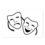 Comedy & Tragedy Mask Postcards (Package of 8)