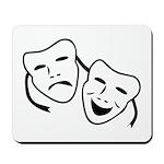Comedy & Tragedy Mask Mousepad