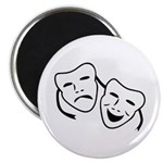 Comedy & Tragedy Mask Magnet