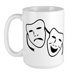 Comedy & Tragedy Mask Large Mug