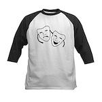 Comedy & Tragedy Mask Kids Baseball Jersey