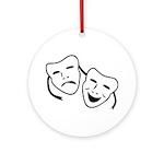 Comedy & Tragedy Mask Ornament (Round)