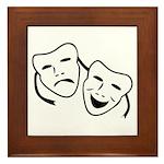 Comedy & Tragedy Mask Framed Tile