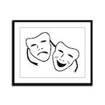 Comedy & Tragedy Mask Framed Panel Print