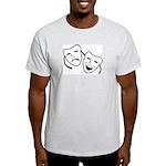 Comedy & Tragedy Mask Ash Grey T-Shirt