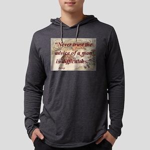 Never Trust The Advice - Aesop Mens Hooded Shirt