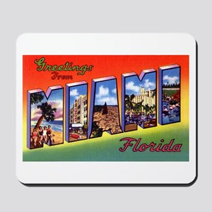 Miami Florida Greetings Mousepad