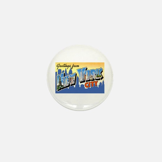 New York City Greetings Mini Button