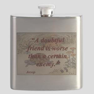 A Doubtful Friend - Aesop Flask