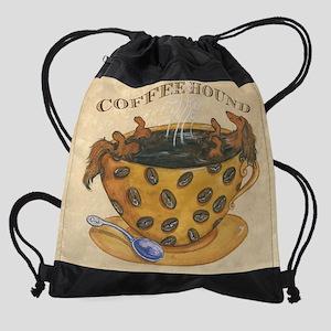 lhcoffeehoundtext Drawstring Bag