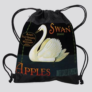 FCL-swan-brand-apples-POSTER Drawstring Bag
