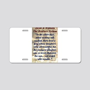 In The Olden Days - Grimm Aluminum License Plate