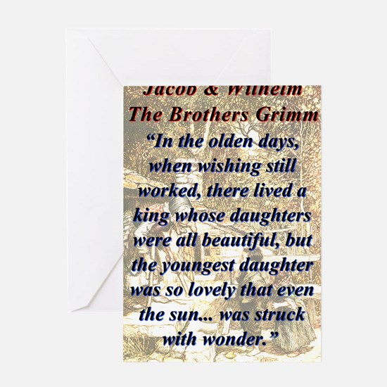 In The Olden Days - Grimm Greeting Card