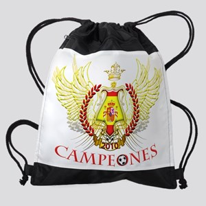 Spain 2010 Campeones (Tribal) Drawstring Bag