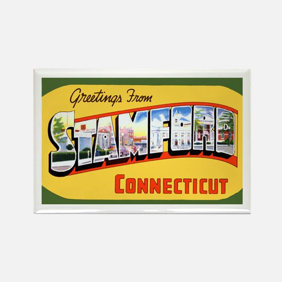 Stamford Connecticut Greetings Rectangle Magnet