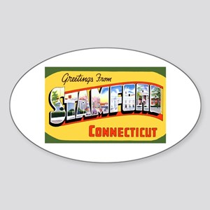 Stamford Connecticut Greetings Oval Sticker