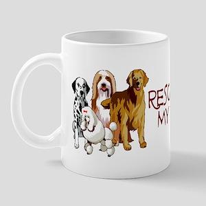 Rescue Dogs Are My Home Boys Mug