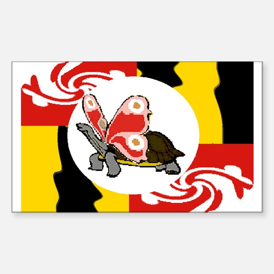 Terrapinfly ( winged turtle ) Sticker (Rectangular