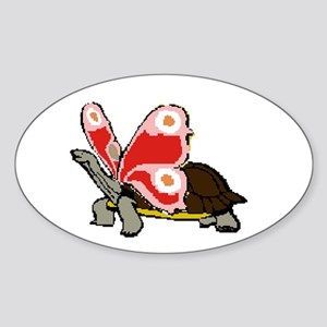 Terrapinfly ( winged turtle ) Oval Sticker