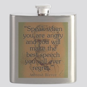 Speak When You Are Angry - Bierce Flask