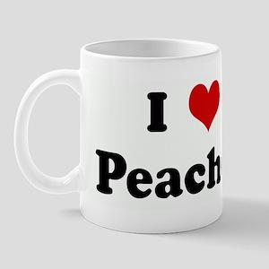 I Love Peaches Mug