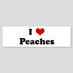 I Love Peaches Bumper Sticker