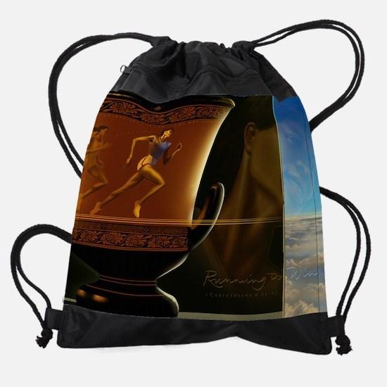 smallposter_run.jpg Drawstring Bag