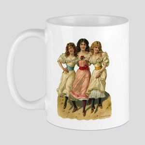 Victorian Girls Sisters Ladies Dancing Mug