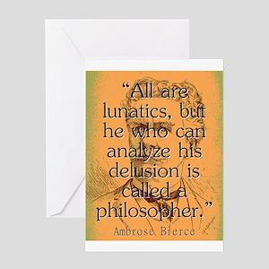 All Are Lunatics - Bierce Greeting Card