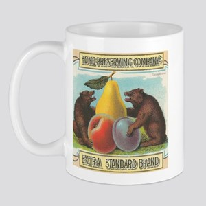 Vintage Crate Produce Label Bears Fruit Mug