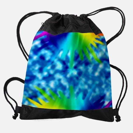 TieDy Rainbow Splater Kids All Over Drawstring Bag