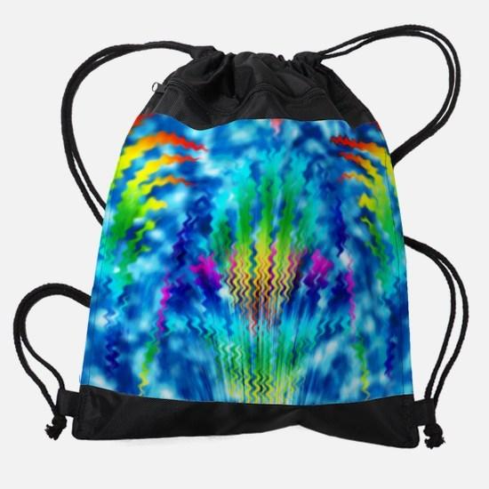 TieDy Waves Sinkhole full Printed s Drawstring Bag