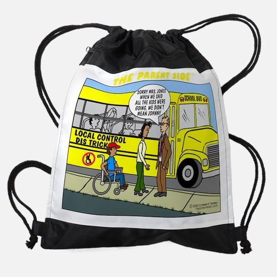 nochildbehind-blck-t.png Drawstring Bag