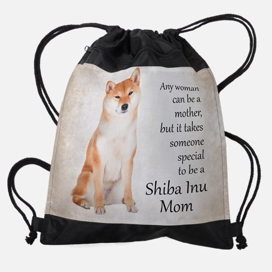Sheba Inu Mom Drawstring Bag