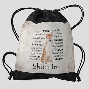 Shiba Inu Traits Drawstring Bag