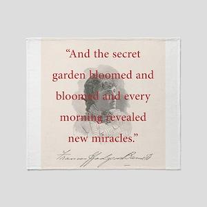 And The Secret Garden Bloomed - FH Burnett Throw B