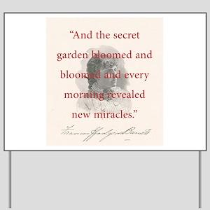 secret garden signs, author quotes yard signs - cafepress, Design ideen