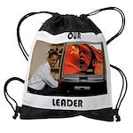 OBAMA TV LEADER.jpg Drawstring Bag