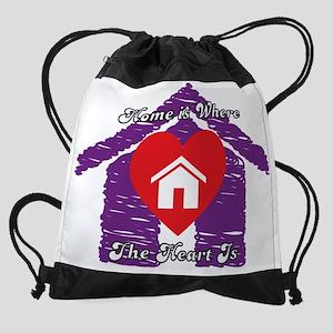 HomeHeartScribble Drawstring Bag