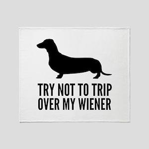 Try not to trip over my wiener Stadium Blanket