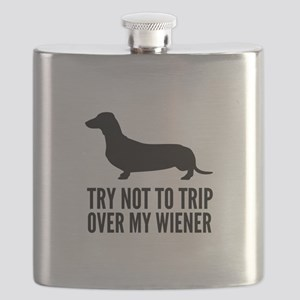 Try not to trip over my wiener Flask