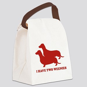 I Have Two Weenies Canvas Lunch Bag