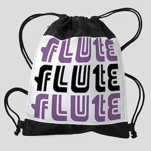 flute mauve Drawstring Bag