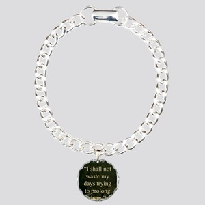 I shall Not Waste My Days - London Charm Bracelet,