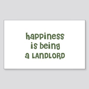 Happiness is being a LANDLORD Sticker (Rectangular