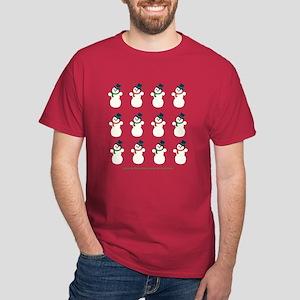 Snowman Cluster Cardinal Red T-Shirt